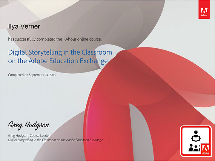 Digital Storytelling in the Classroomon the Adobe Education Exchange